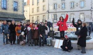 Les indignés de Quimper : la mobilisation ne faiblit pas