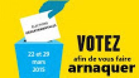 L'escroquerie des élections départementales 2015